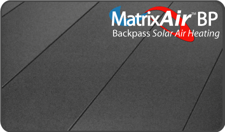 MatrixAir Backpass solar air heating collector